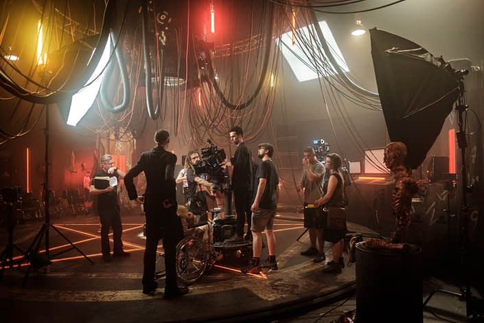 Behind the Scenes   John Platt Production Still Photographer   Fox Studios   Nekrotronic